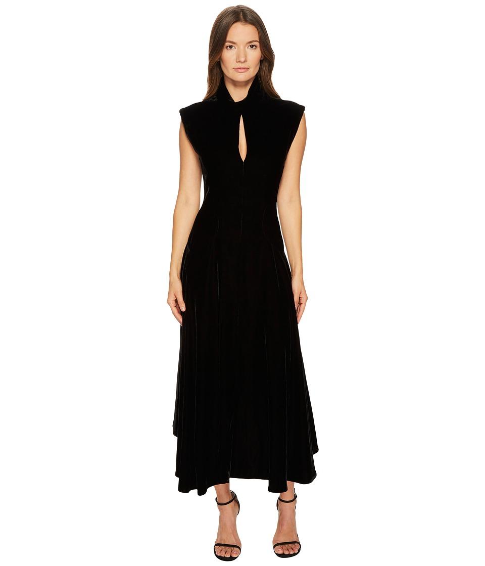 Neil Barrett Velvet Cap Sleeve Dress (Black) Women