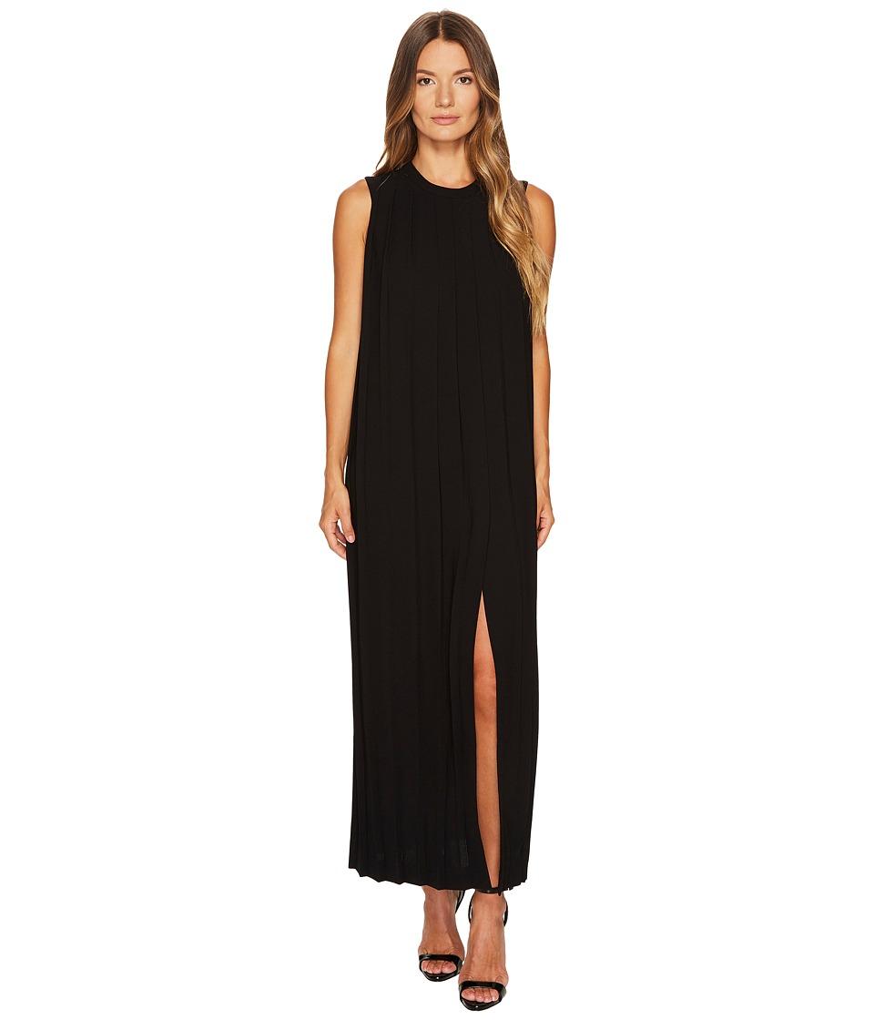 Neil Barrett - Sable' + Fine Gabardine Sleeveless Pleated Dress