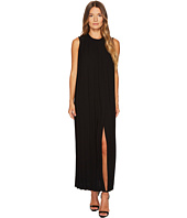 Neil Barrett - Sable' + Fine Gabardine Sleeveless Pleated Dress