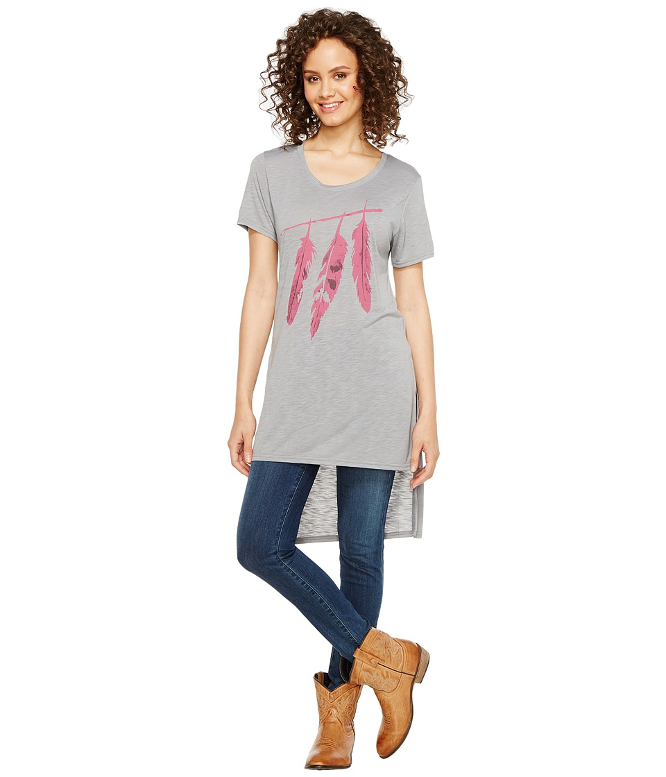 Roper 1135 Poly Rayon Loose Fit Tee (Blue) Women