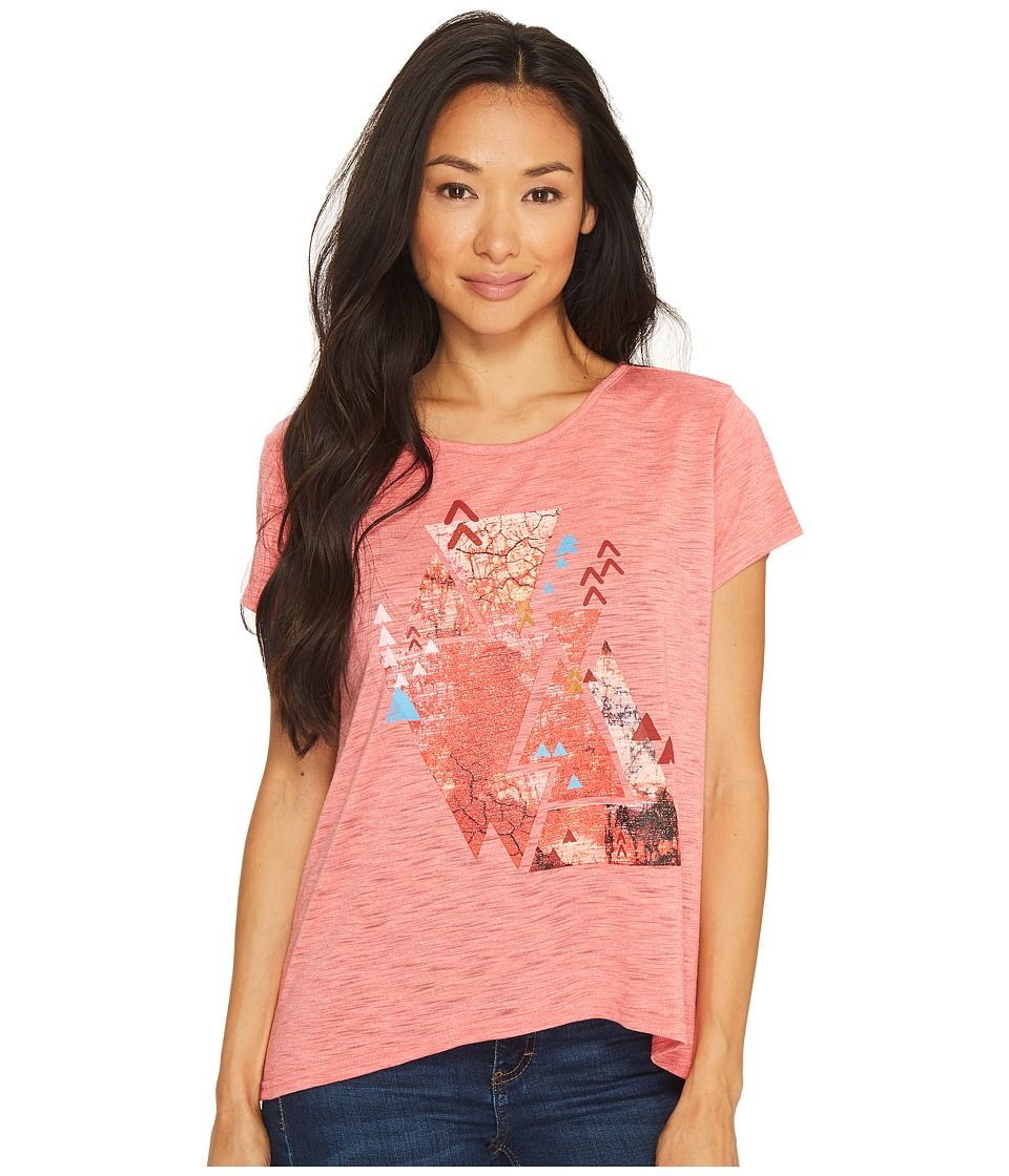 Roper 1136 Poly Rayon Knit Loose Fit Tee (Pink) Women