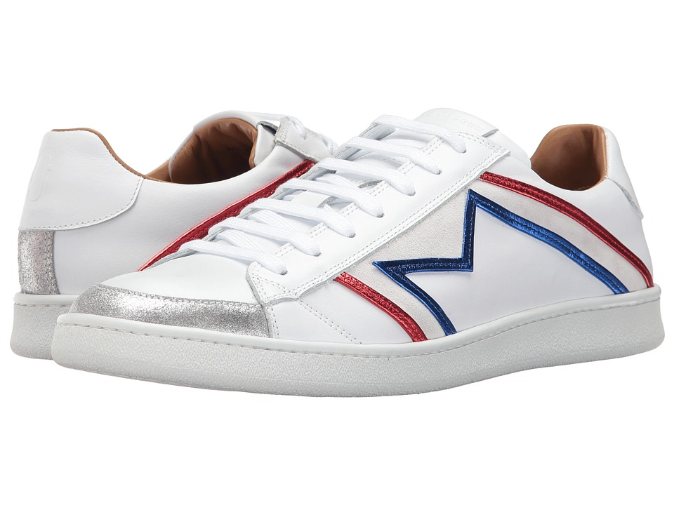 Marc Jacobs Metallic Trim Sneaker (White Combo) Men