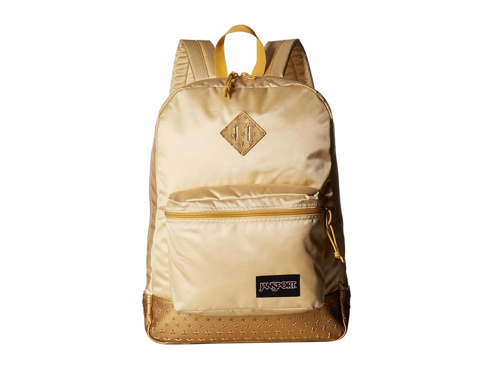 JanSport - Super FX (Gold 3D Stars 1) Backpack Bags