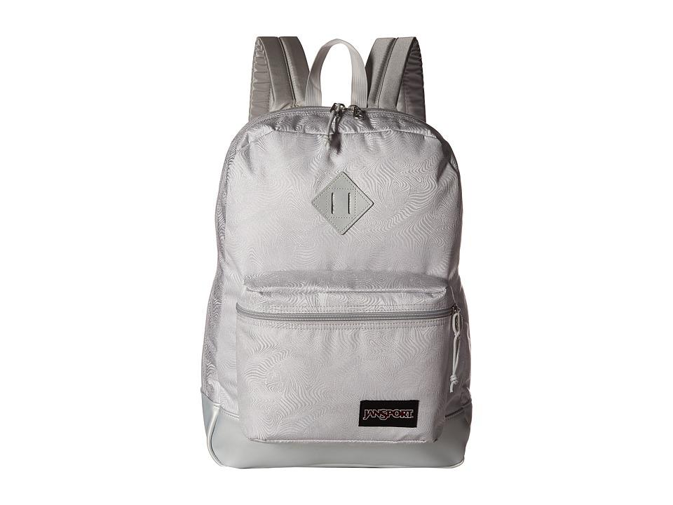 JanSport - Super FX (Silver Psychedelic 1) Backpack Bags