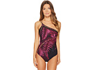 Versace Intero One Shoulder Panther Eyes Maillot One-Piece