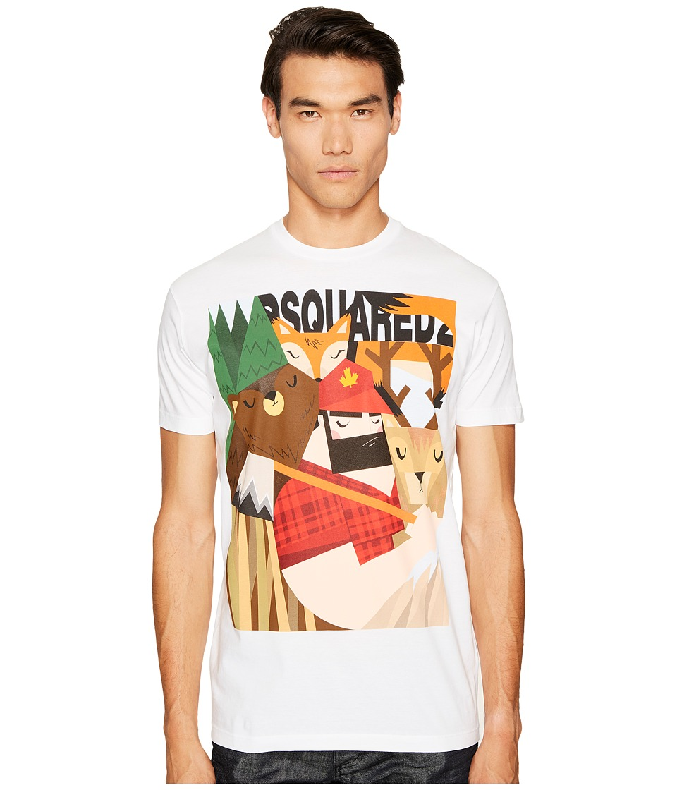 DSQUARED2 Mountain Man T-Shirt (White) Men