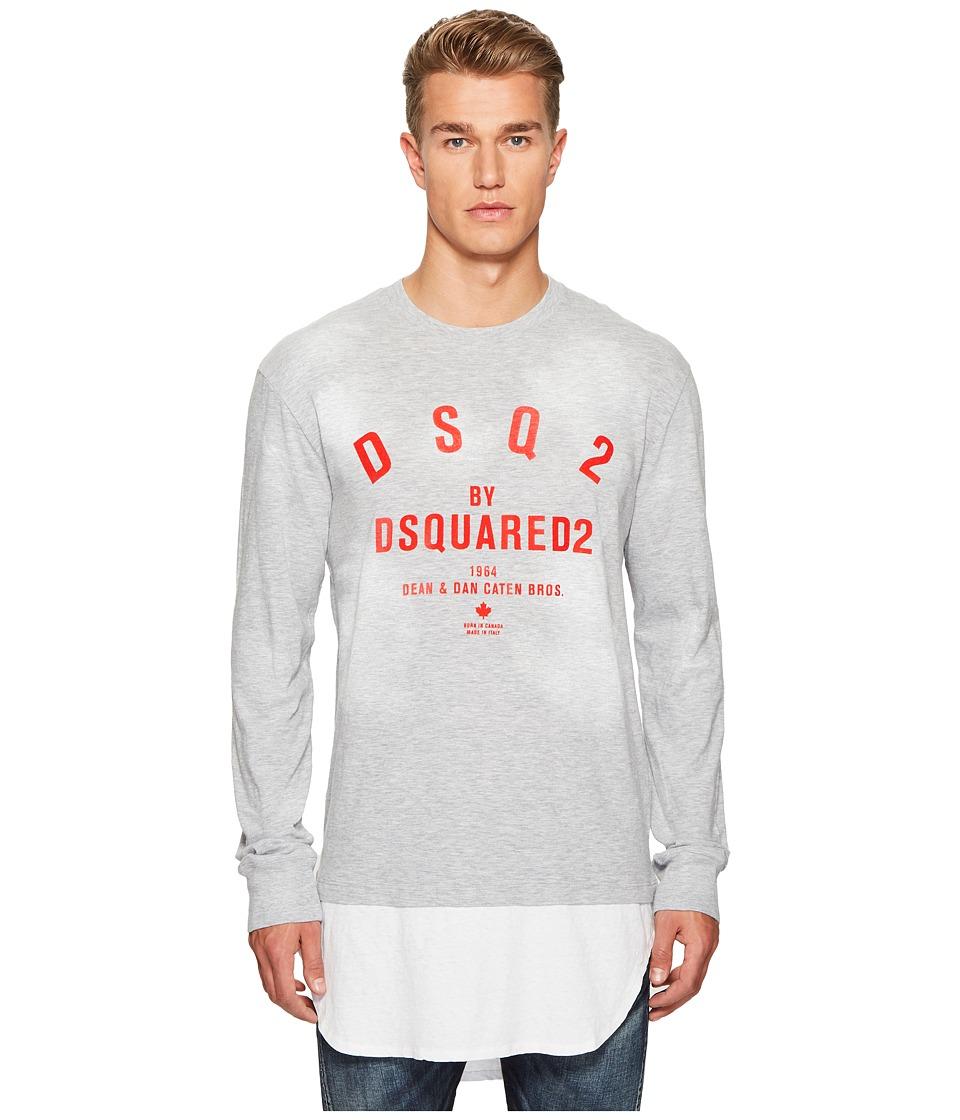 DSQUARED2 Destroyed Spots T-Shirt (Grey) Men