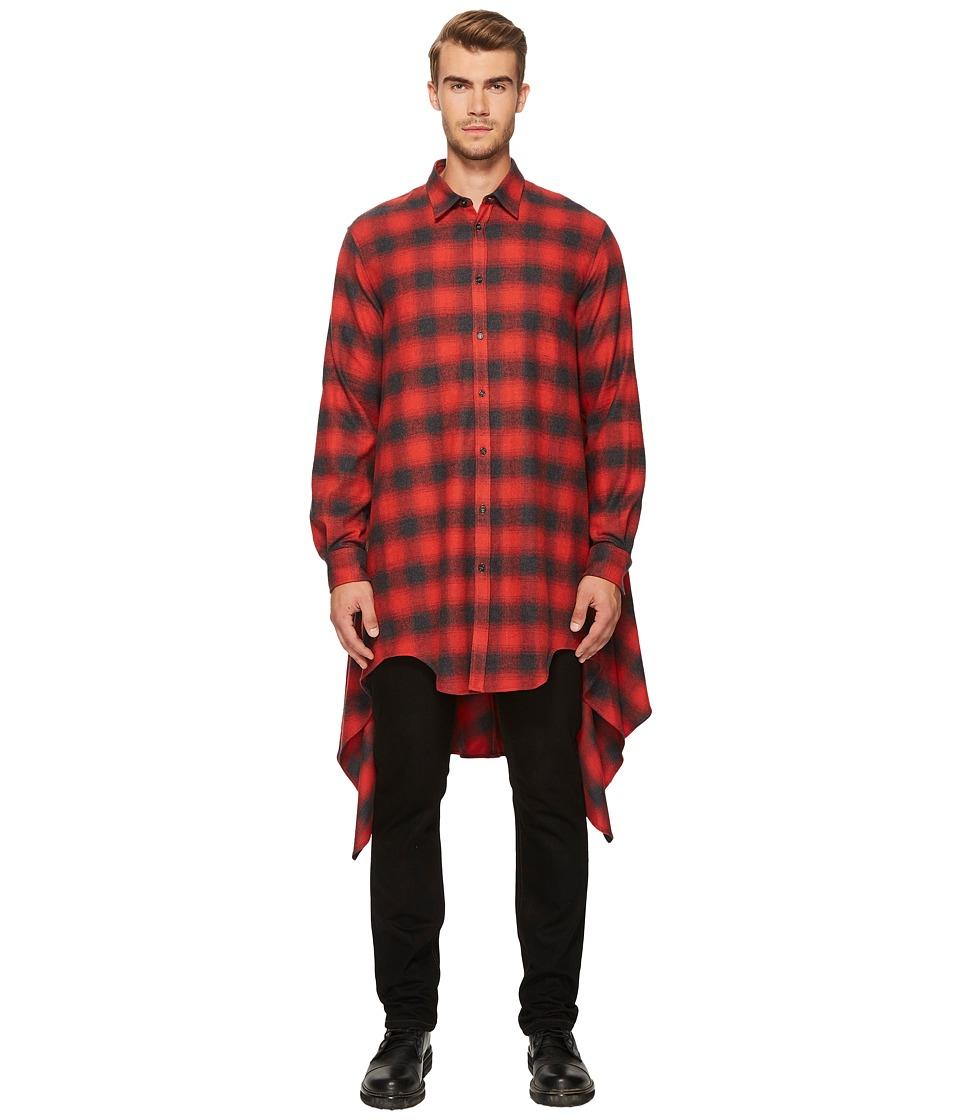 DSQUARED2 Grunge Blanquet Shirt (Red/Black) Men