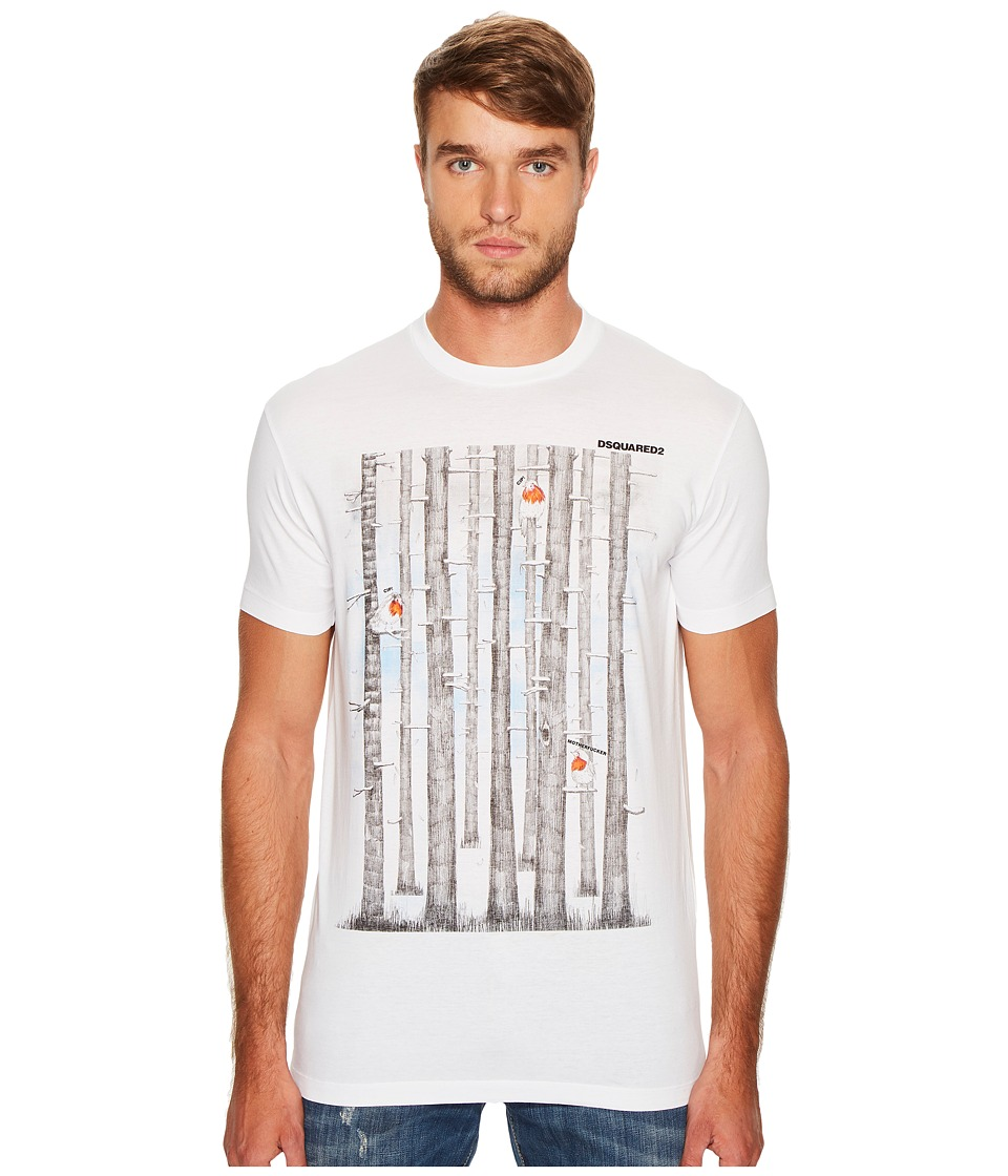 DSQUARED2 Mountain Hiking T-Shirt (White) Men
