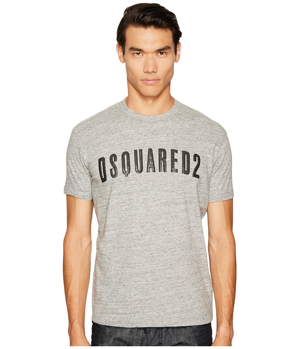 DSQUARED2 Crack/Shiny Print T-Shirt (Grey) Men