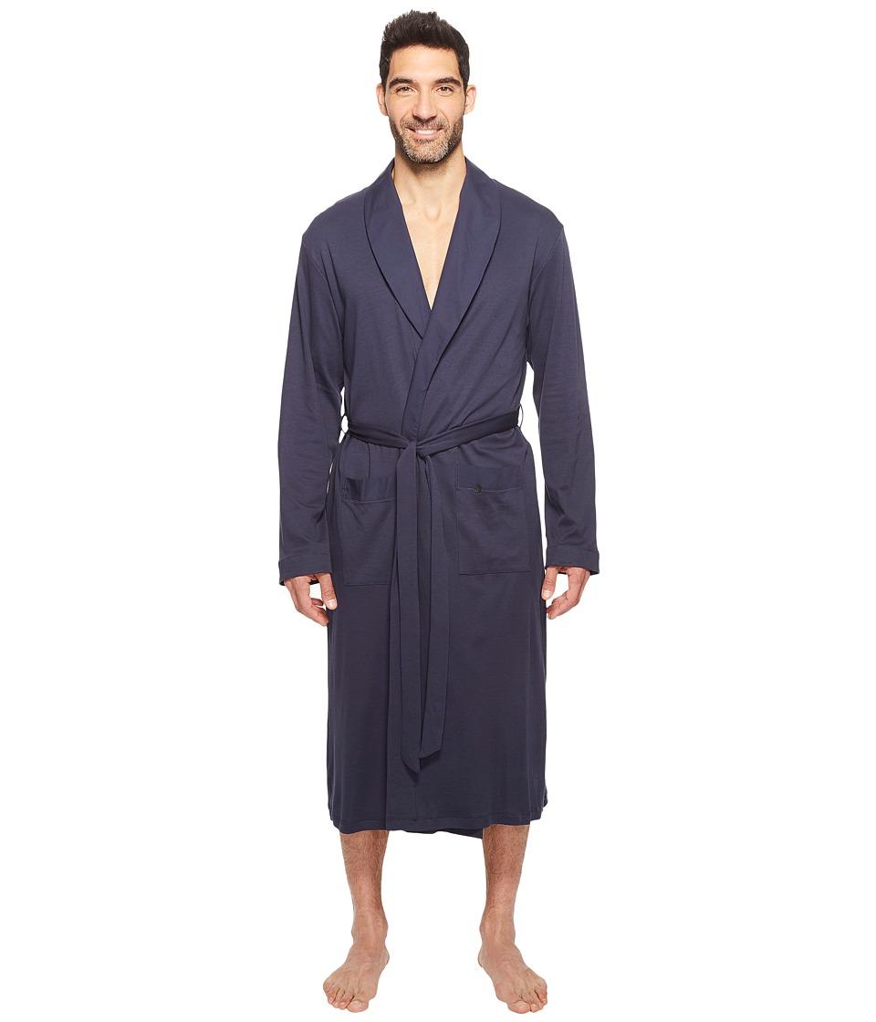 Hanro Night and Day Robe (Black Iris) Men's Robe