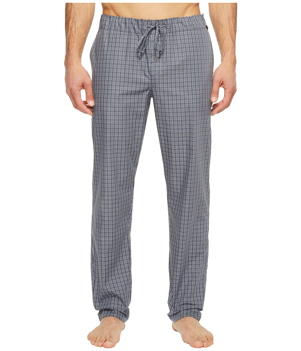 Hanro Night and Day Woven Lounge Pants (Grey Check) Men's...