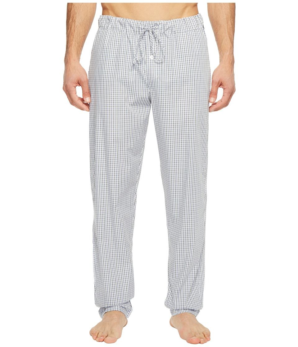 Hanro Night and Day Woven Lounge Pants (Shaded Check) Men...
