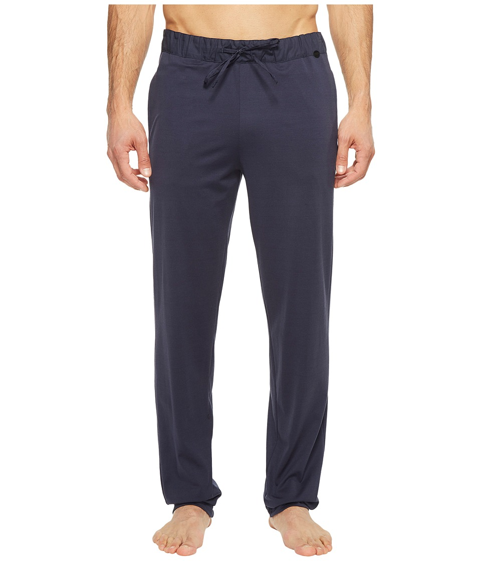 Hanro Night and Day Knit Lounge Pants (Black Iris) Men's ...