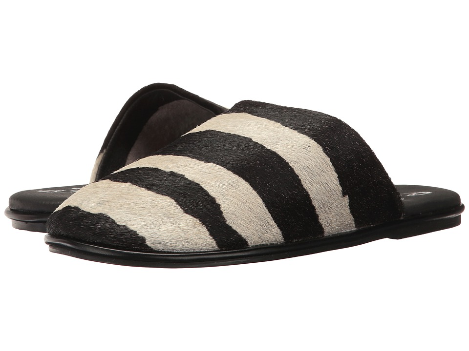 Warm Creature Slipper (Black/White Zebra) Women