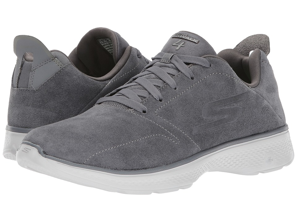 SKECHERS Performance - GOwalk 4 - Acclaim (Charcoal) Mens Walking Shoes