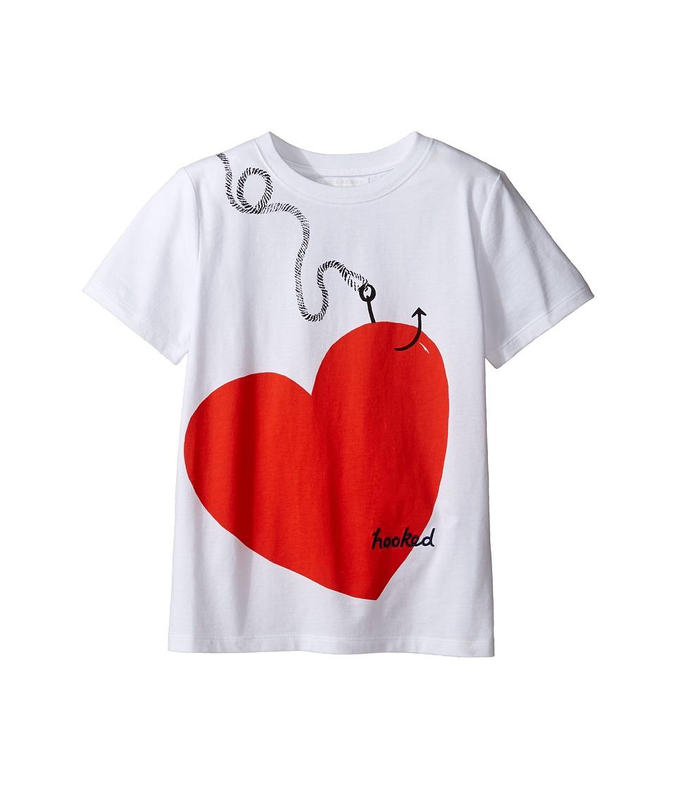 Burberry Kids - Love Hooked Tee (Little Kids/Big Kids) (White) Girls T Shirt