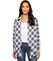 Roper - 1143 Blue/Grey Plaid Western Cardigan