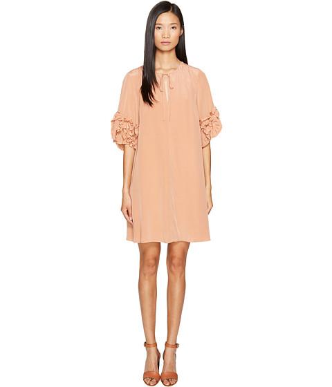 See by Chloe Georgette Ruffle Sleeve Dress
