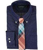 LAUREN Ralph Lauren - Classic Fit Solid Button Down Collar Dress Shirt