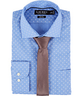 LAUREN Ralph Lauren - Slim Fit Non Iron Mini Paisley Poplin Plaid Spread Collar Dress Shirt