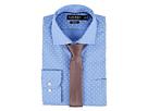LAUREN Ralph Lauren Slim Fit Non Iron Mini Paisley Poplin Plaid Spread Collar Dress Shirt