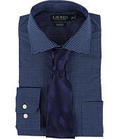 LAUREN Ralph Lauren - Classic Fit Non Iron Poplin Plaid Spread Collar Dress Shirt