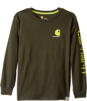Carhartt Kids - CB Long Sleeve Logo Tee (Big Kids)