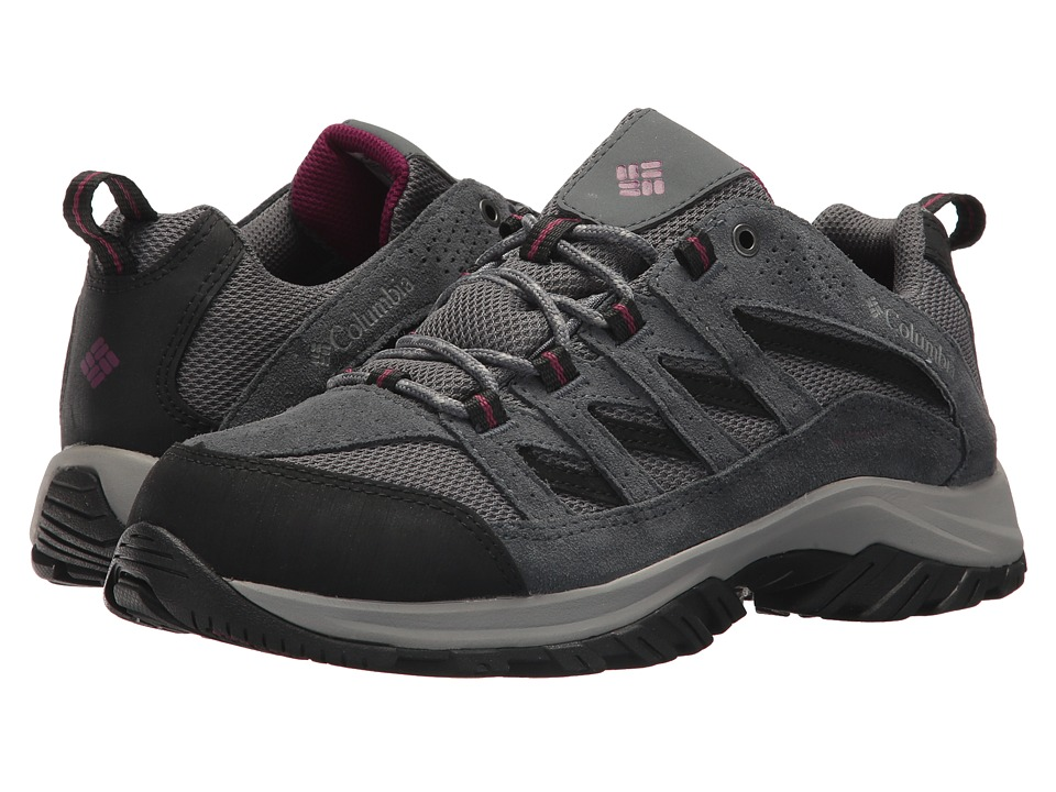 Columbia Crestwood Waterproof (Ti Grey Steel/Dark Raspberry) Women's Shoes