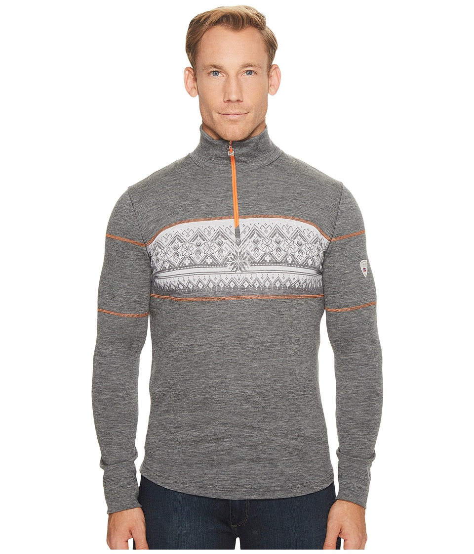 Dale of Norway - Rondane Masculine (T-Smoke/White/Orange Peel) Mens Sweater