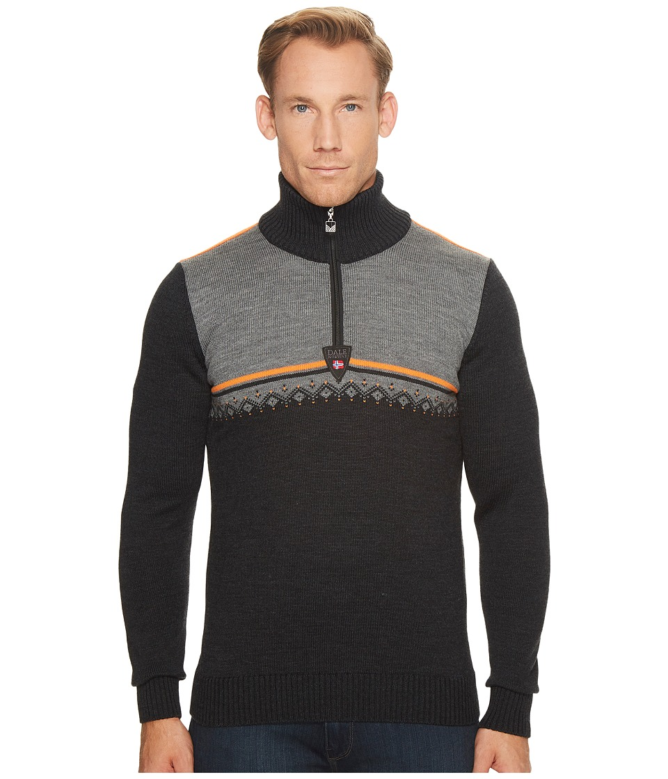 Dale of Norway - Lahti Sweater (E-Dark Charcoal/Orange Peel/Smoke) Mens Sweater
