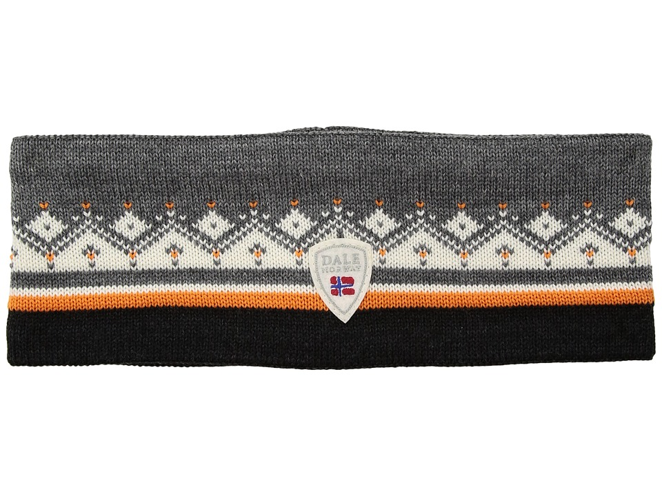 Dale of Norway - St. Moritz Headband (J-Smoke/Orange Peel/Off-White/Dark Charcoal) Headband