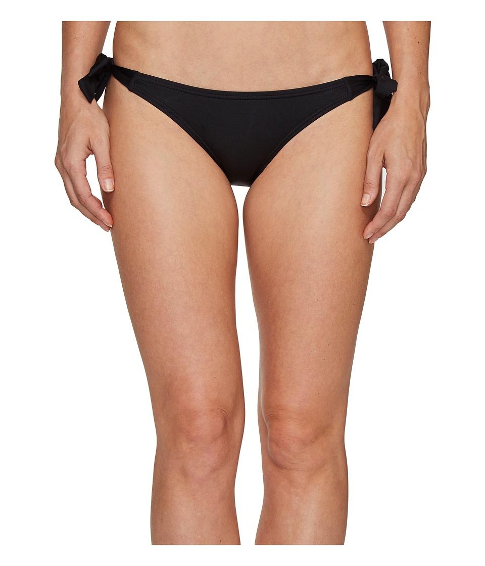 Vince Camuto Draped Solids Side Tie Bikini Bottom (Black)