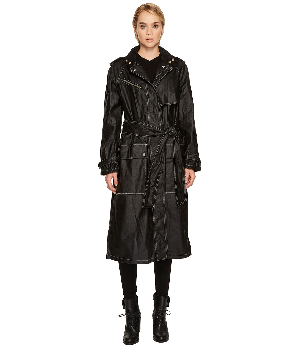 Belstaff Calderwood Waxed Cotton Jacket (Black) Women's Coat