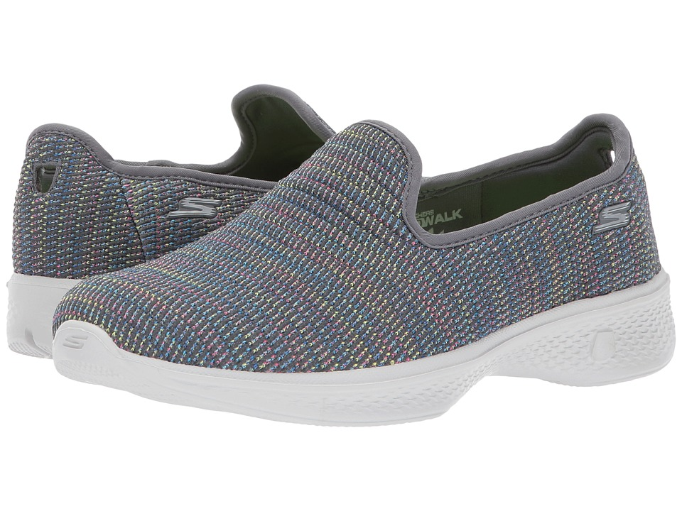 SKECHERS Performance - Go Walk 4 - 14922 (Gray/Multi) Womens Shoes