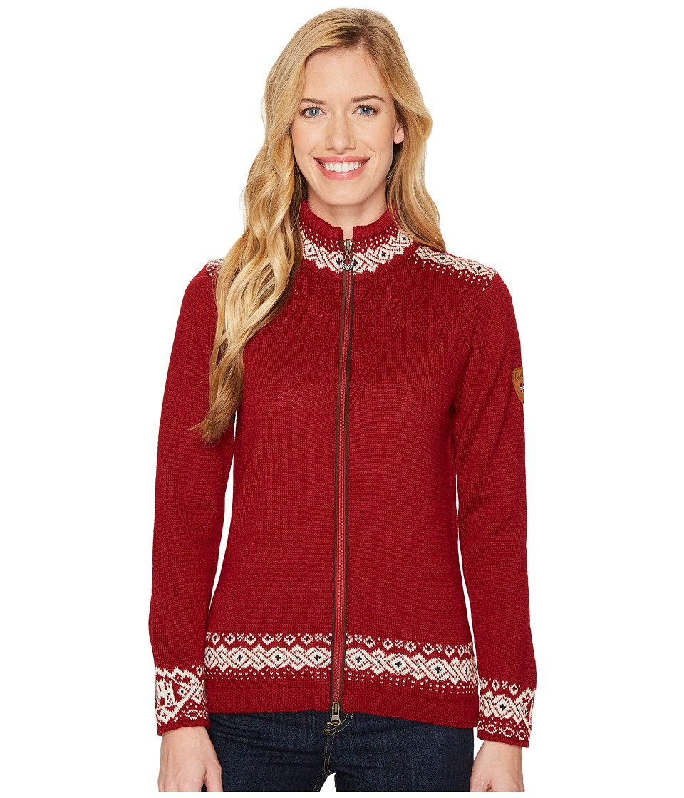 Dale of Norway - Bergen Jacket (B-Red Rose/Off-White/Navy) Womens Coat