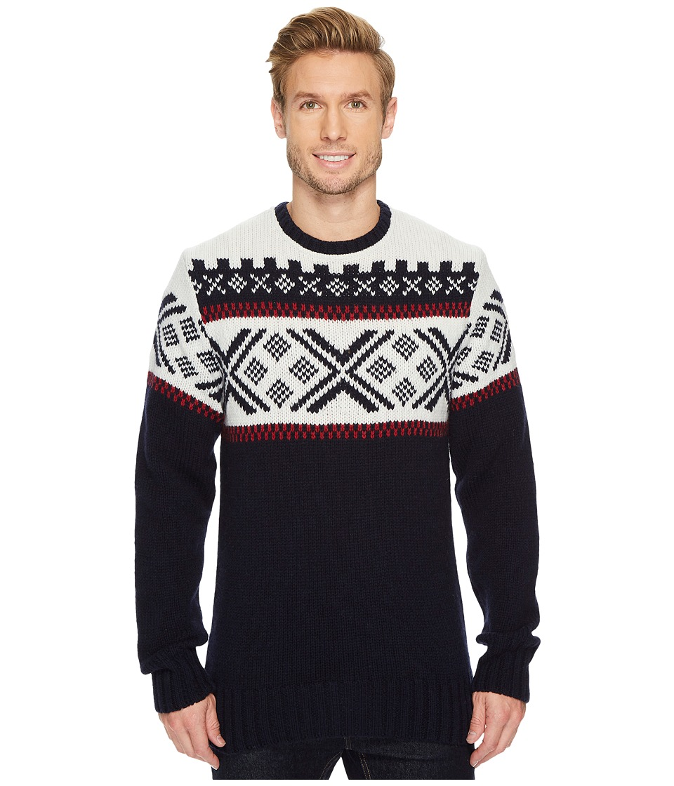 Men's Vintage Style Sweaters – 1920s to 1960s Dale of Norway - Skigard Sweater C-NavyRaspberryOff-White Mens Sweater $209.99 AT vintagedancer.com