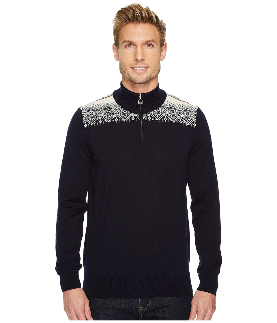 Dale of Norway - Fiemme Sweater (C-Navy/Raspberry/Orange Peel/Peacock/Off-White) Mens Sweater