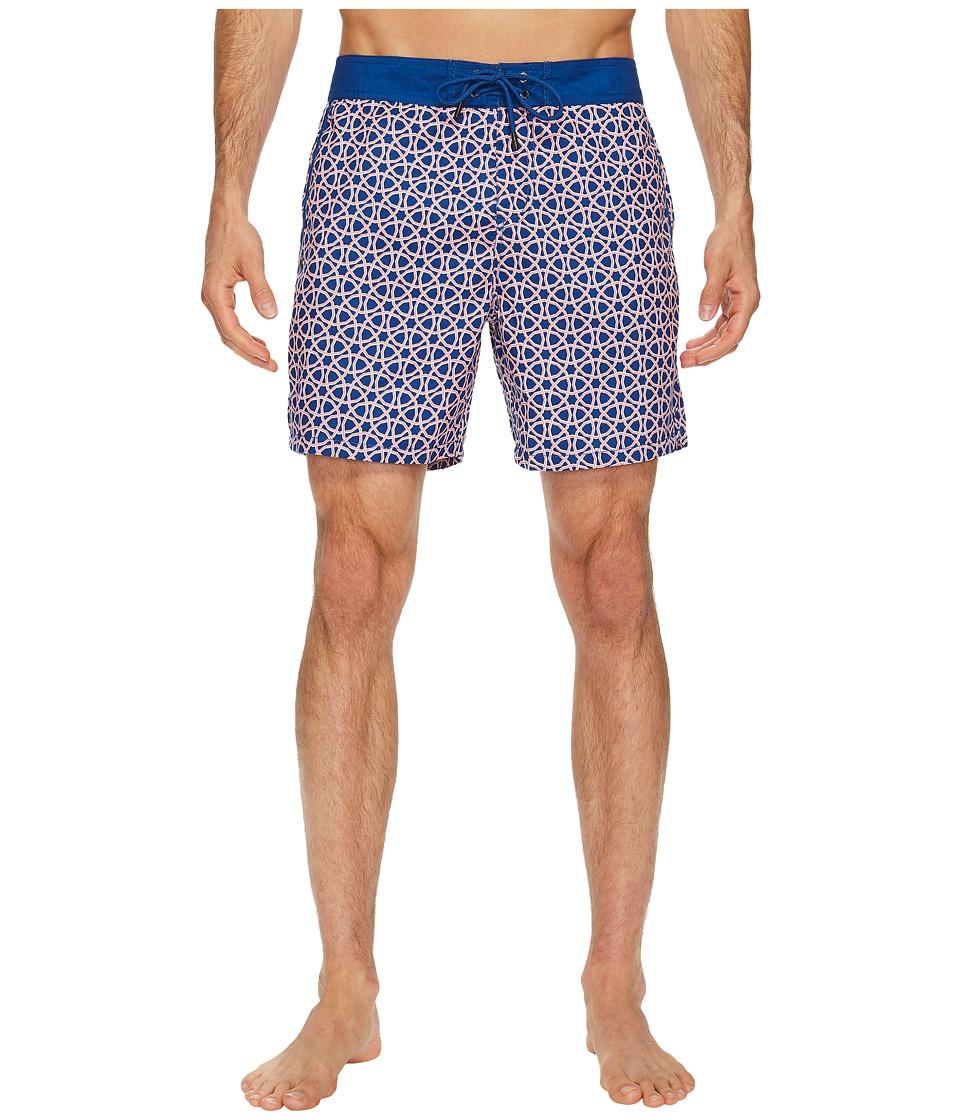 Mr. Swim Octagon Printed Chuck Boardshorts (Tangerine) Men