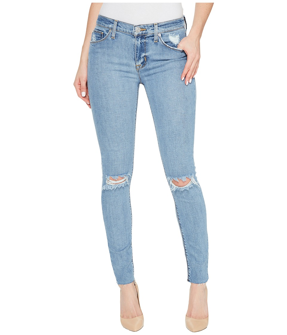 Hudson Nico Mid-Rise Ankle Raw Hem Super Skinny Five-Pocket Jeans in Hooligan (Hooligan) Women