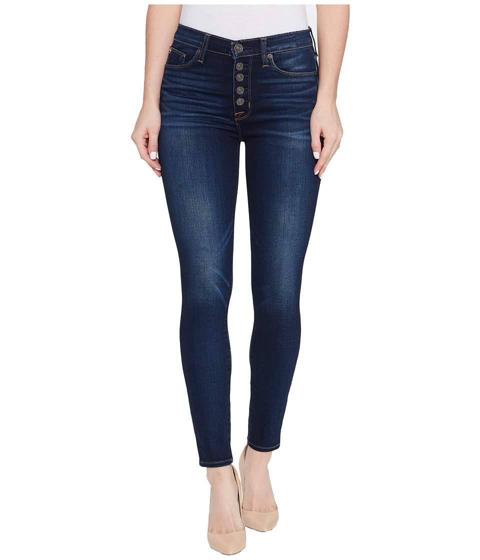 Hudson Ciara High-Rise Ankle Super Skinny Buttonfly Five-Pocket Jeans in Charmed (Charmed) Women