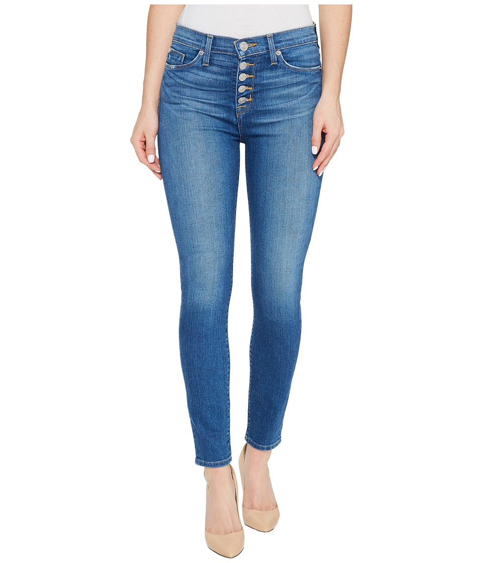 Hudson Ciara High-Rise Ankle Super Skinny Buttonfly Five-Pocket Jeans in Rumors (Rumors) Women