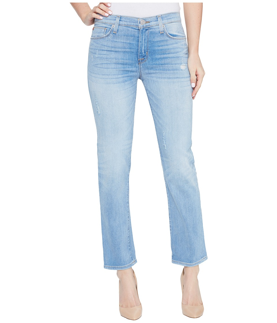 Hudson Zoeey Mid-Rise Crop Straight Five-Pocket Jeans in Aura (Aura) Women