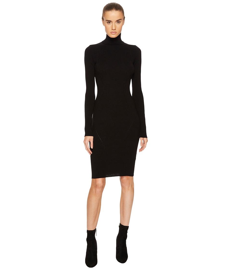 DSQUARED2 Knit Turtleneck Long Sleeve Dress (Black) Women