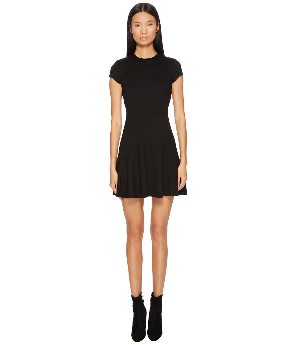 DSQUARED2 Wool Jersey Grunge Cap Sleeveless Dress (Black) Women
