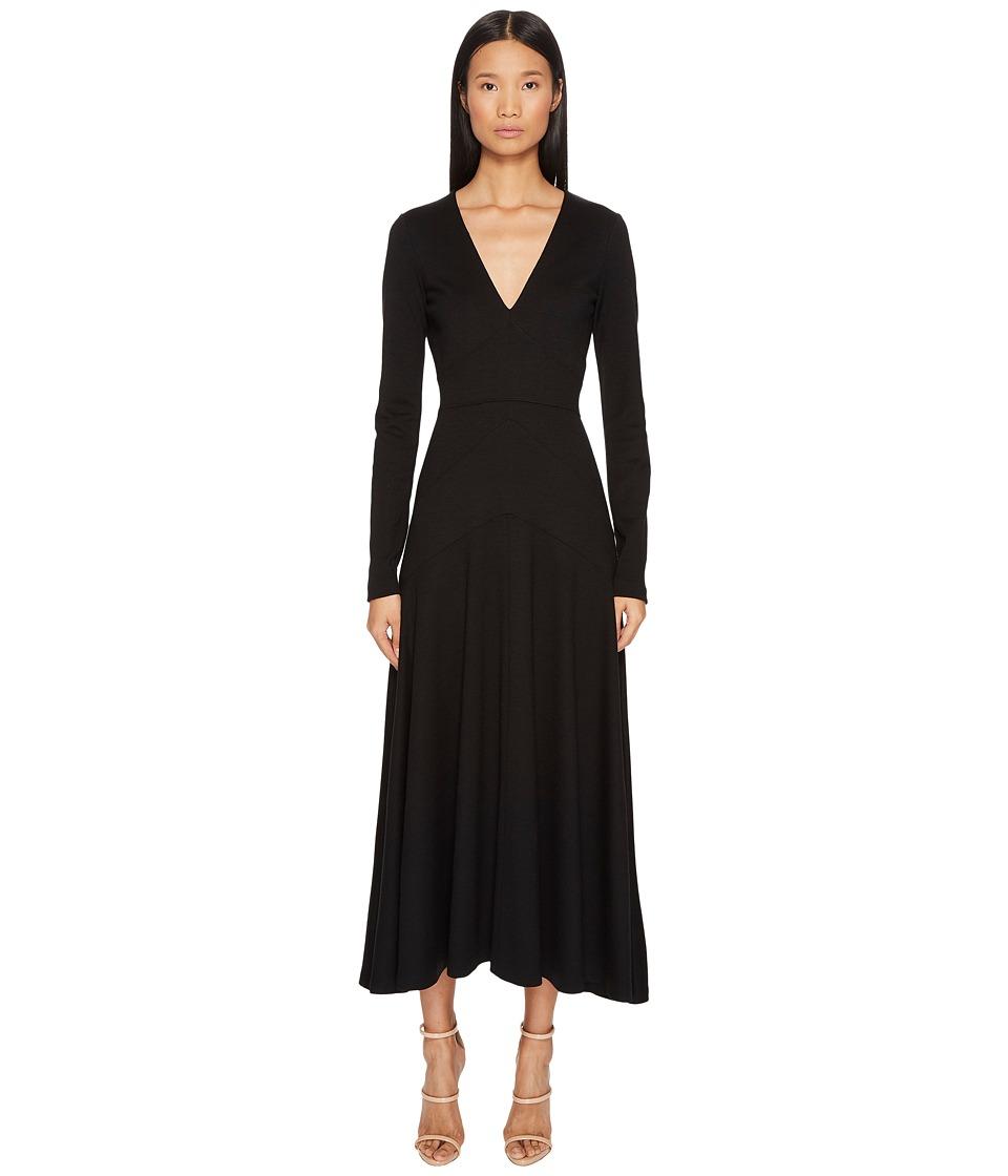 DSQUARED2 Wool Jersey Grunge Long Sleeve Dress (Black) Women