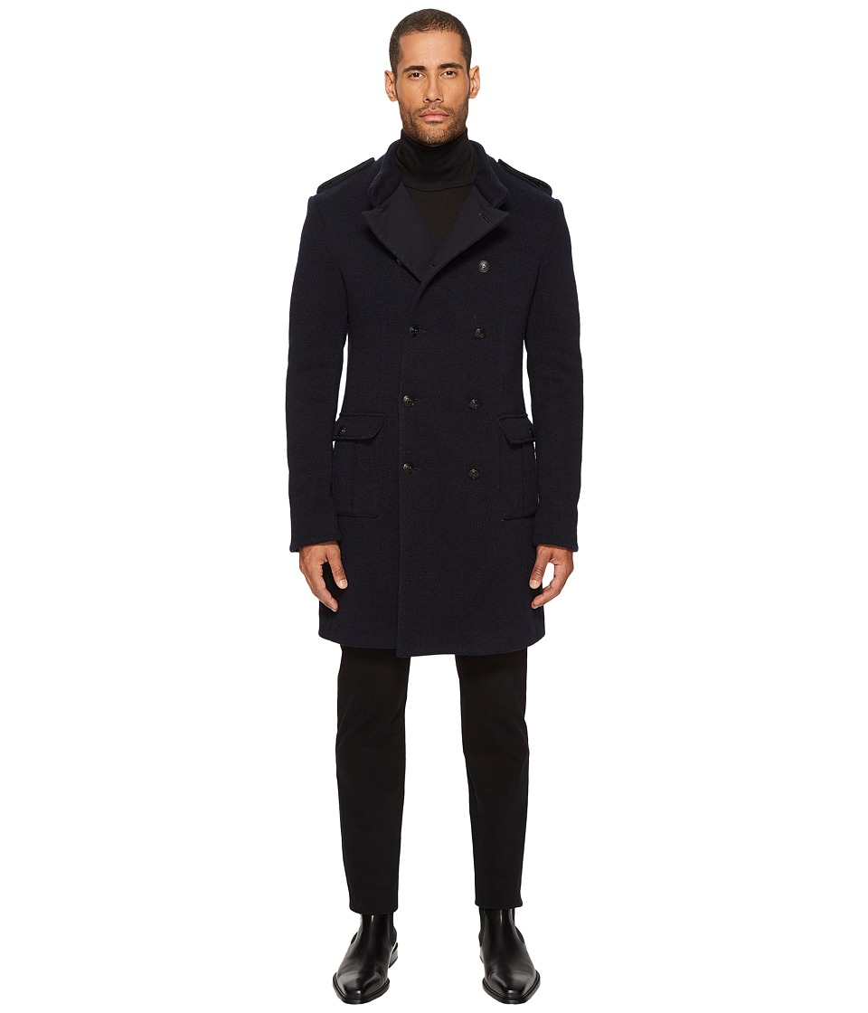 Pierre Balmain - Military Coat (Navy) Mens Coat