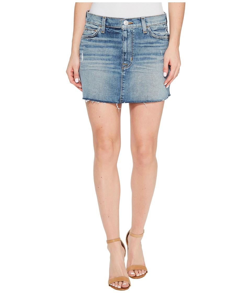 Hudson - Vivid Denim Mini Skirt w/ Raw Hem in Sunday Girl (Sunday Girl) Womens Skirt