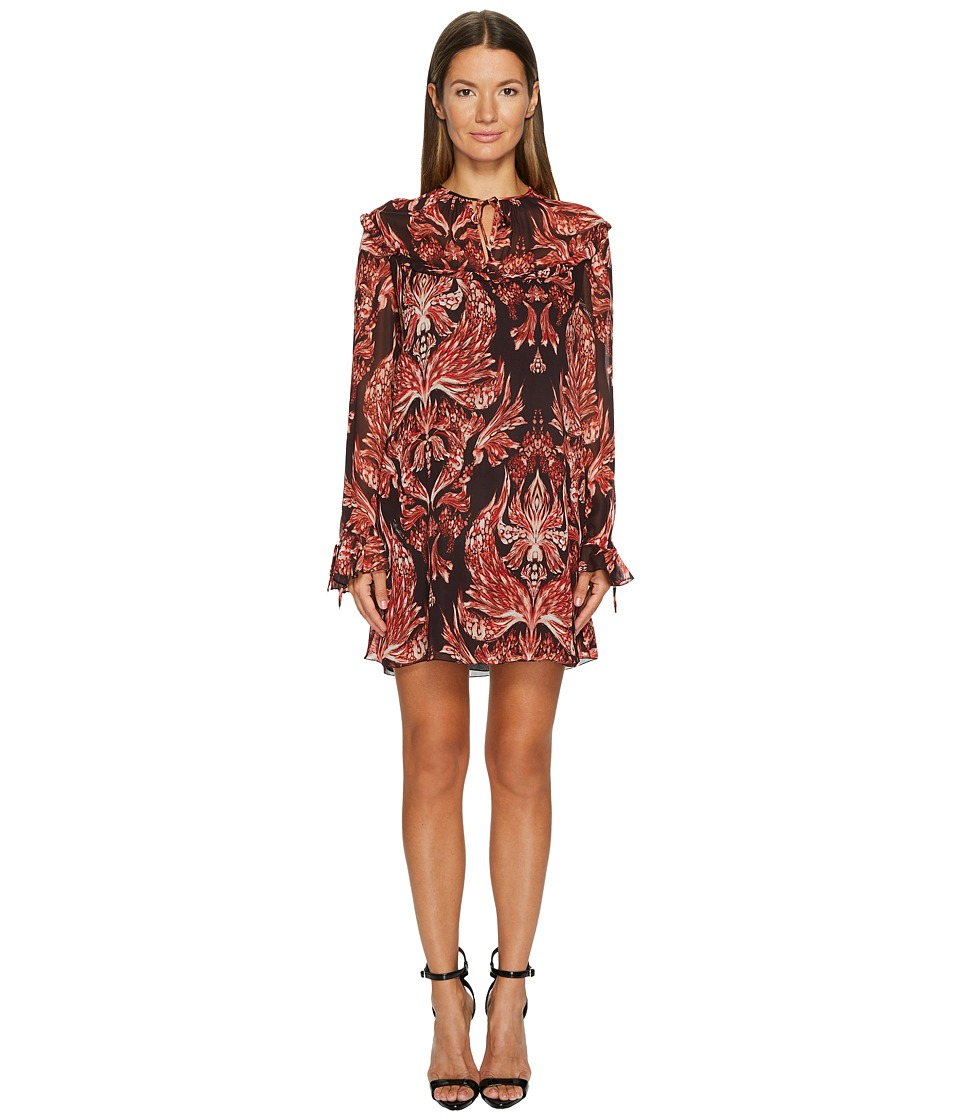 Just Cavalli - Baroque Printed Long Sleeve Dress