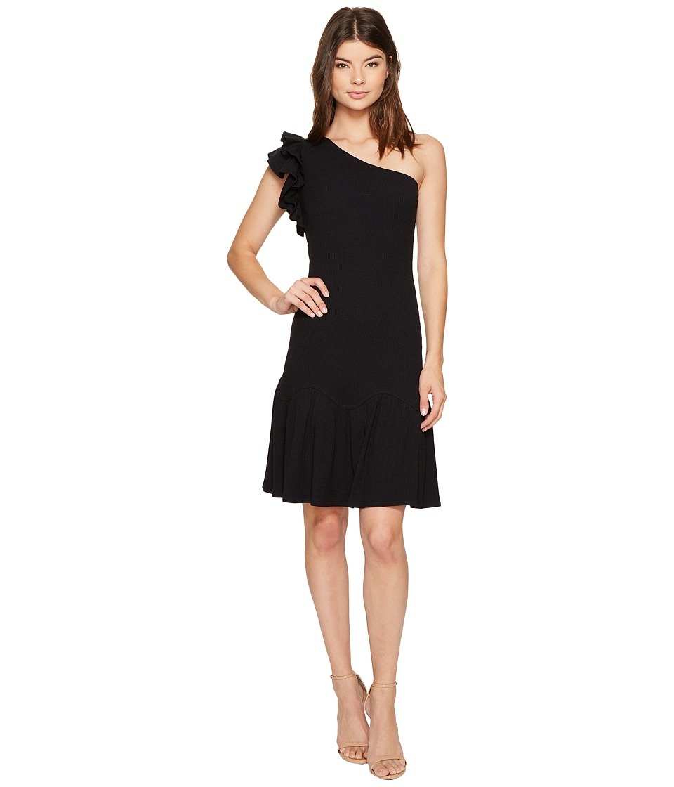 Rebecca Taylor - One Shoulder Rib Jersey Dress